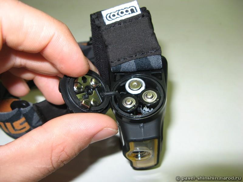 Блок с батарейками фонаря Silva Ninox