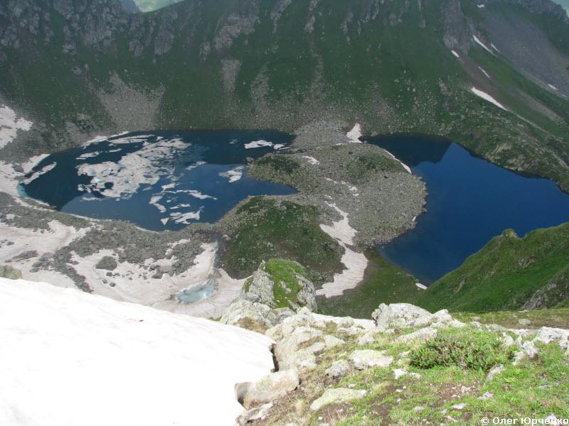 озера на стороне долины Загеданки
