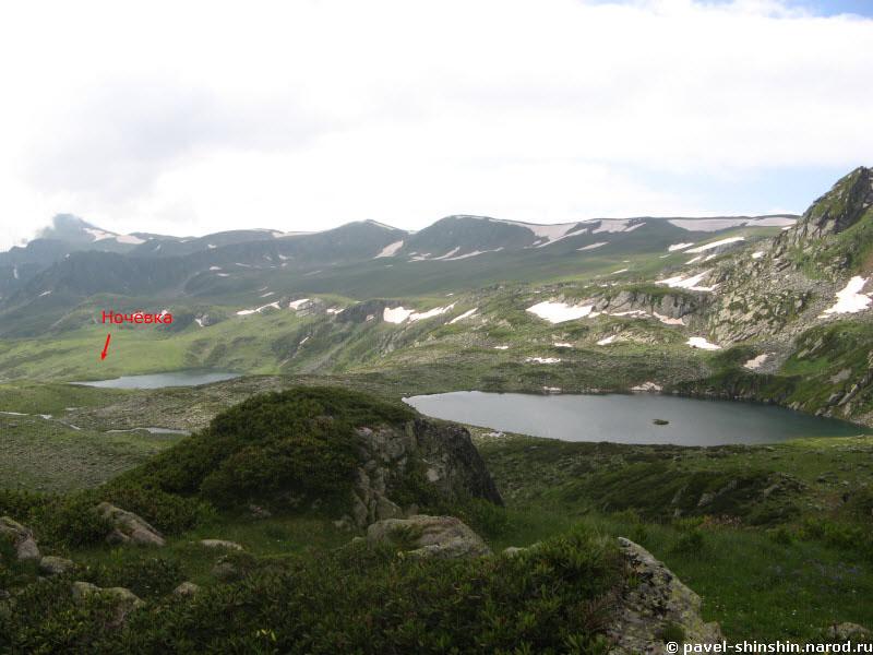 Вид на озера на которых мы стояли
