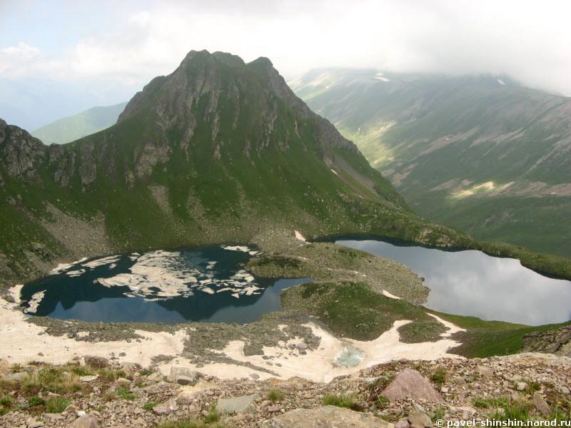 озера с перевала Загедан