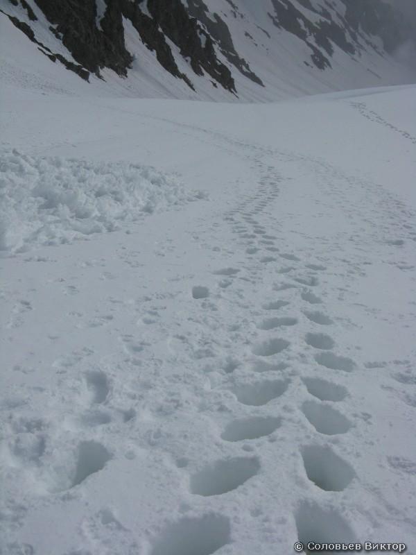 А мы оставляем следы на снегу