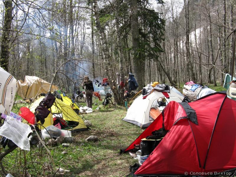 Лагерь сушится
